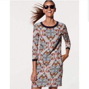d185b210 J. Crew Misty Fog Floral Shift Dress